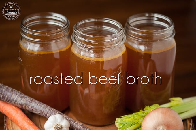 Roasted Beef Broth | Self Proclaimed Foodie