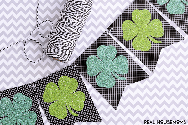 Free Printable Shamrock Banner | Real Housemoms
