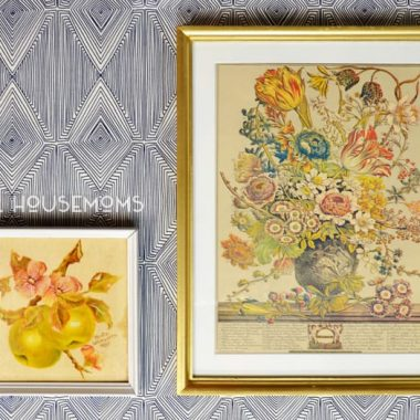 Updating Thrift Store Art. Walll art pictures transformed into a more modern look. After photo