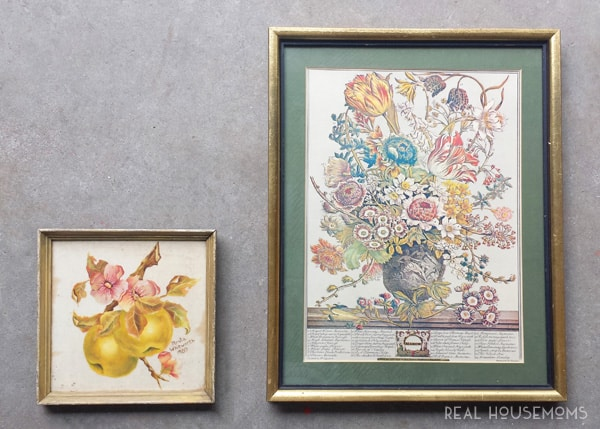 Updating Thrift Store Art || Real Housemoms