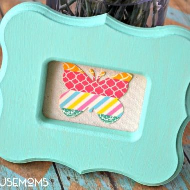 Spring Butterfly Washi Tape Frame