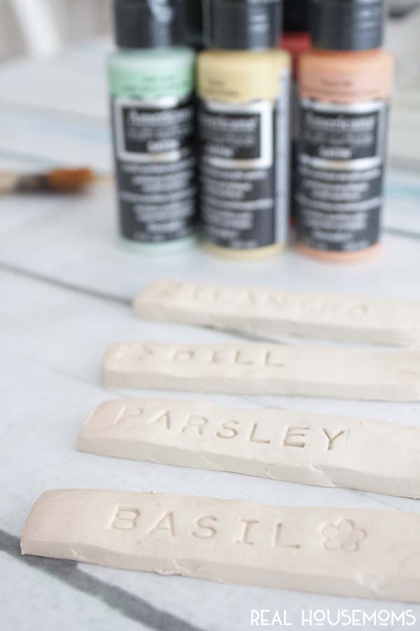DIY Herb Marker Stakes | Real Housemoms