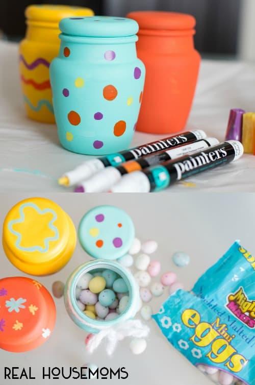 Easter Egg Painted Treat Jars | Real Housemoms