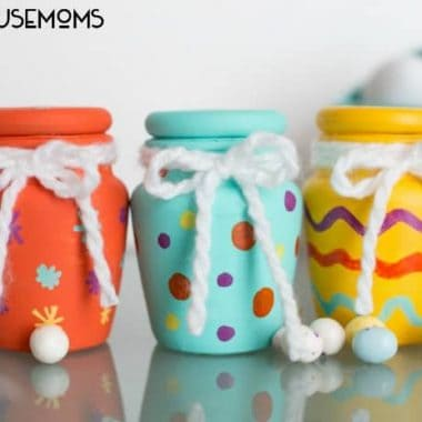 Easter Egg Painted Treat Jars | Real Housemoms