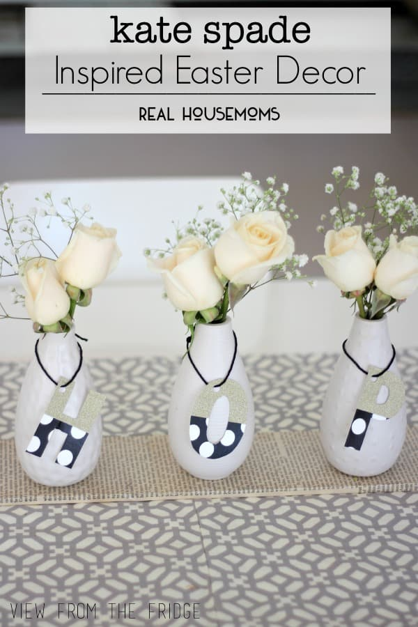 Kate Spade Inspired Easter Decor | Real Housemoms