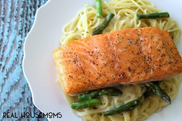 Salmon with Angel Hair | Real Housemoms