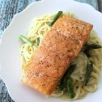 Salmon with Angel Hair | Real Housemoms