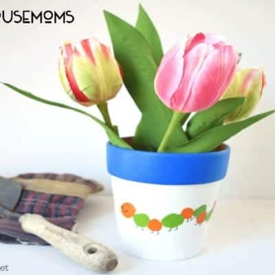 Thumbprint Caterpillar Flower Pot