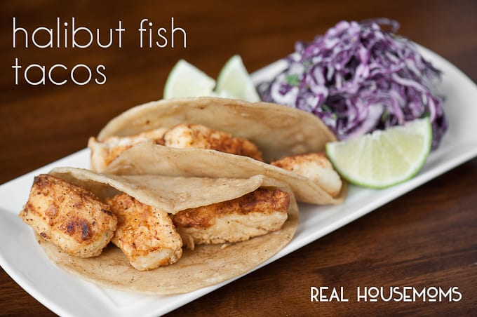 Halibut fish tacos real housemoms for Suggestions for sides for fish tacos