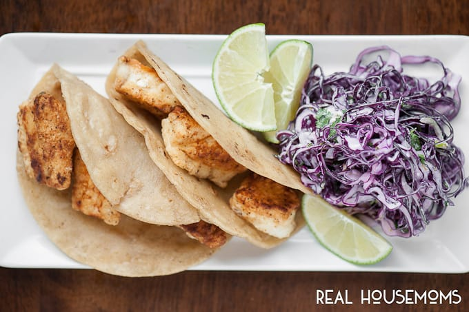 Halibut fish tacos real housemoms for Sides for fish tacos