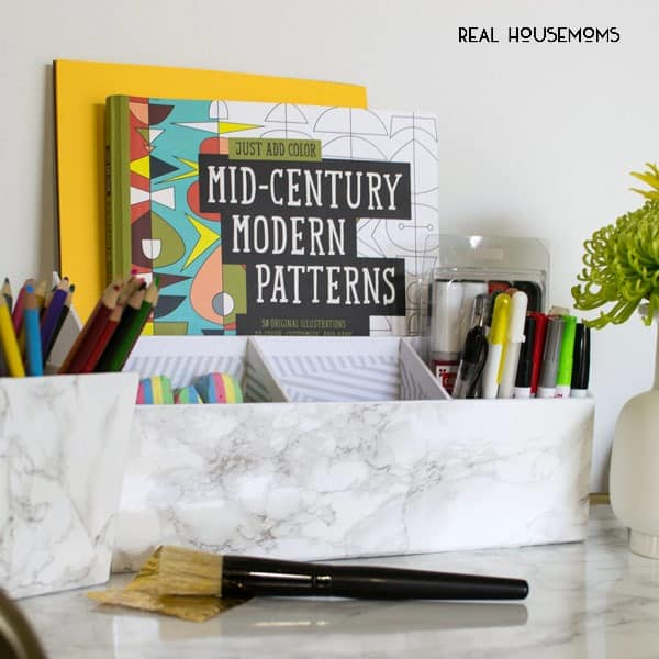 Marble Papered Desk Set | Real Housemoms