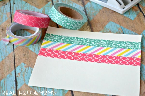 Spring Butterfly Washi Tape Frame from Real Housmoms