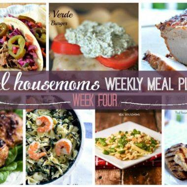 Weekly Meal Plan {Week 4}