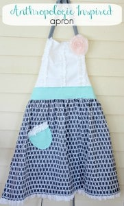 DIY Anthropologie Inspired Tea and Crumpets Apron