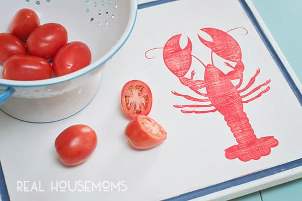 Cutting Board Makeover Nautical Style | Real Housemoms