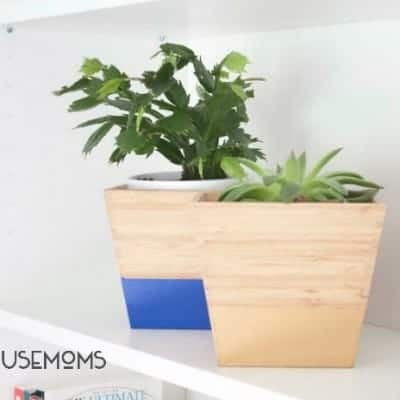 DIY Color Dipped Bamboo Planters | IKEA Hack