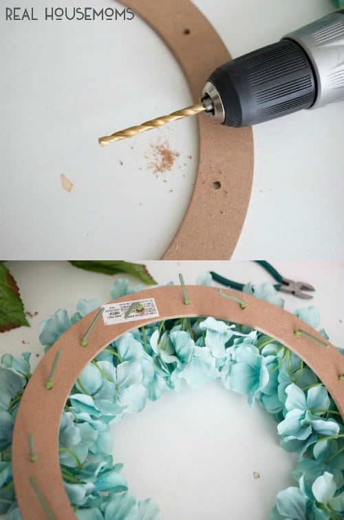 Easy Hydrangea Wreath | Real Housemoms