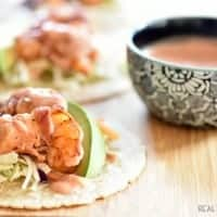 Grilled Bacon Wrapped Shrimp Tacos are so quick and easy to make you can have them on the table in 15 min. and blow your family away!!