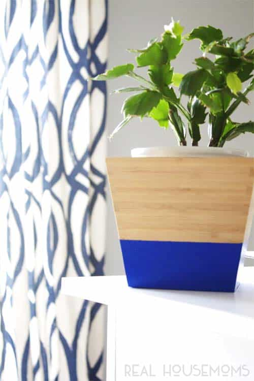 DIY Color Dipped Bamboo Planters  IKEA Hack | Real Housemoms