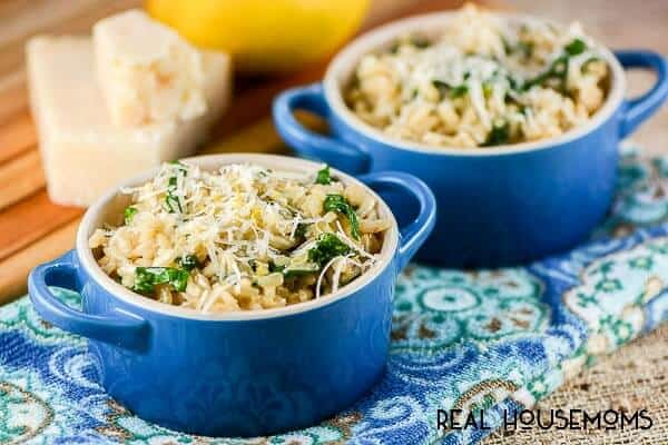 Lemon Parmesan Spinach Risotto | Real Housemoms