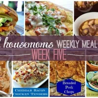Weekly Meal Plan {Week 5}