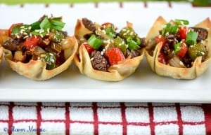 Pepper Steak in Wonton Cups-23