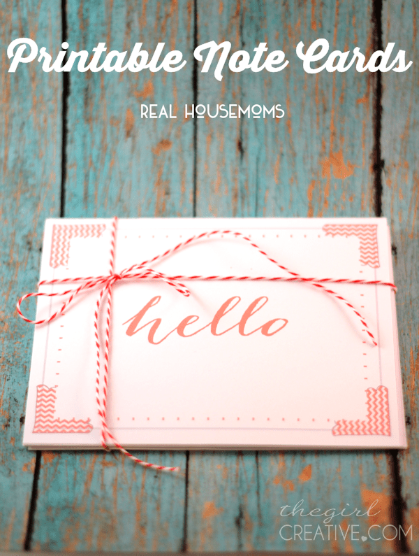 Printable Note Cards for All Occassions | Real Housemoms