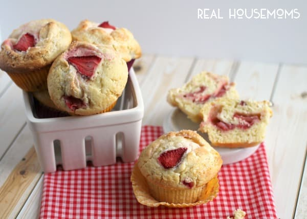 Strawberry Lemon Cream Cheese Muffins | Real Housemoms