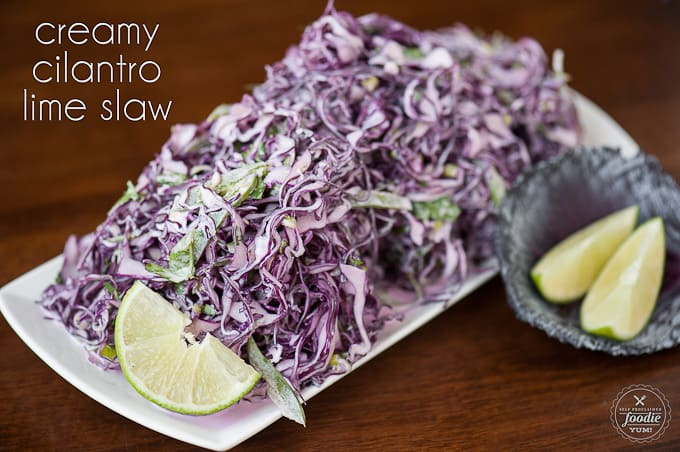 Creamy Cilantro Lime Slaw | Self Proclaimed Foodie
