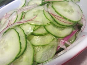 Easy Pickled Cucumber Salad