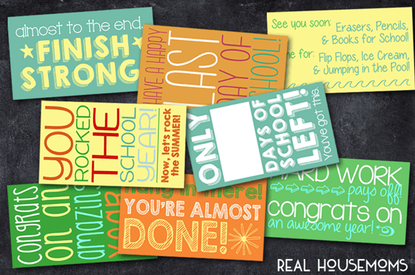 Printable End-of-the-Year Lunchbox Notes | Real Housemoms