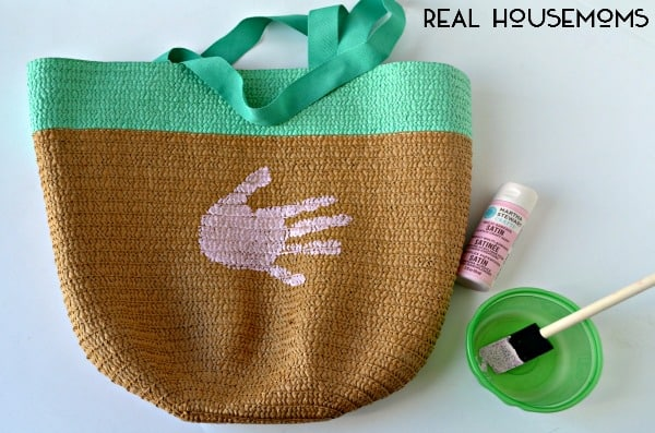 Flamingo Handprint Mother's Day Tote Bag | Real Housemoms
