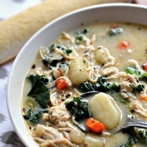 Chicken and Kale Gnocchi Soup