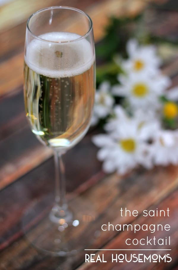 The Saint Champagne Cocktail | Real Housemoms