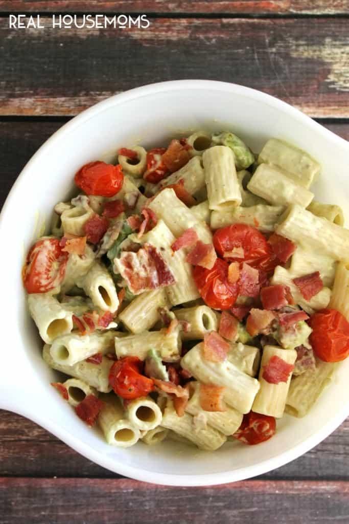 Bacon & Avocado Pasta Salad |Real Housemoms