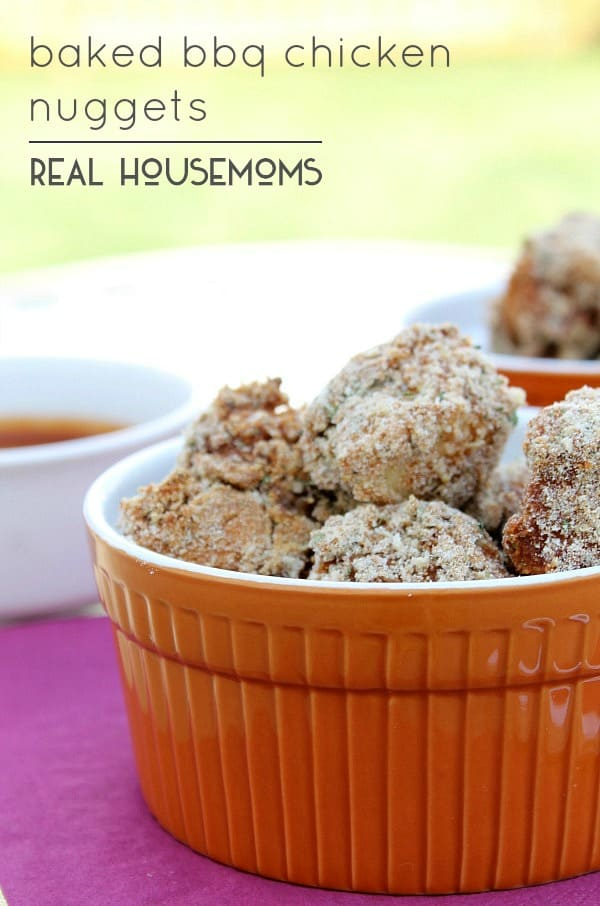 Baked BBQ Chicken Nuggets | Real Housemoms