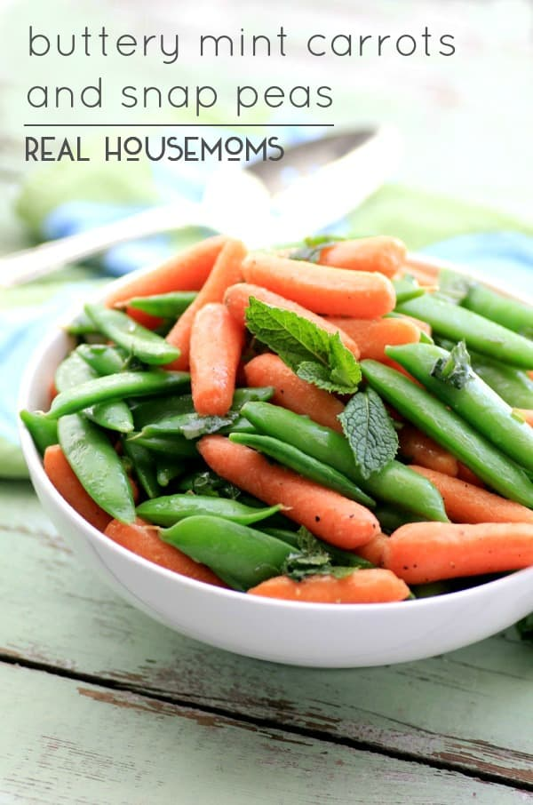 Buttery Mint Carrots and Snap Peas | Real Housemoms