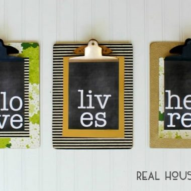 Easy Clipboard Art | Real Housemoms