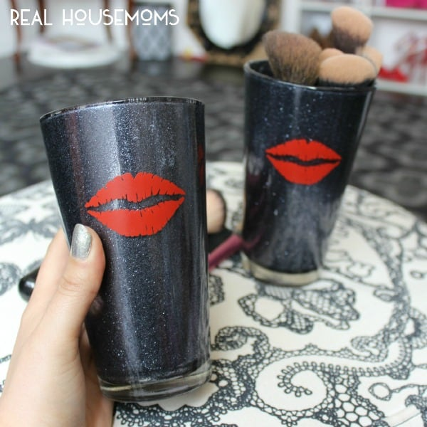 Diy Glitter Makeup Brush Holder ⋆ Real Housemoms