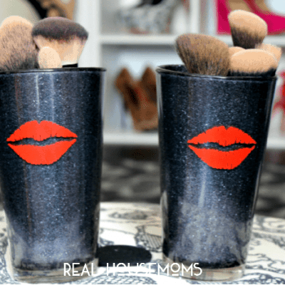 DIY Glitter Makeup (Brush) Holder