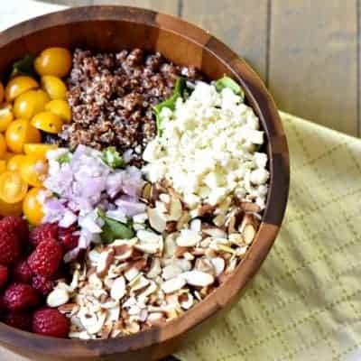 Fully Loaded Raspberry Salad