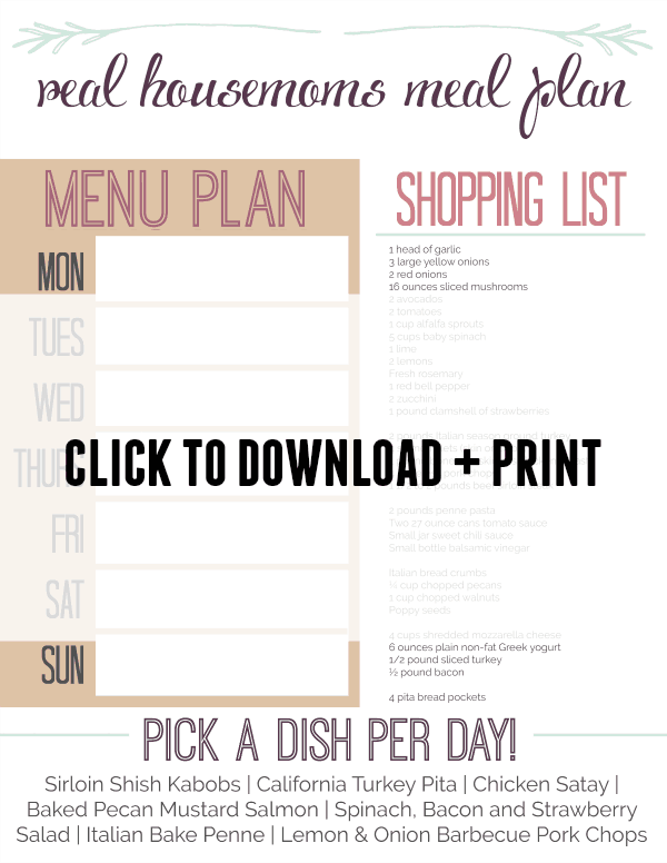 Meal Plan Week 7 D+P