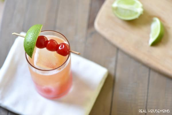 Mexican Sunset is a gorgeous tequila cocktail perfect for Cinco de Mayo, or just relaxing on the back porch!