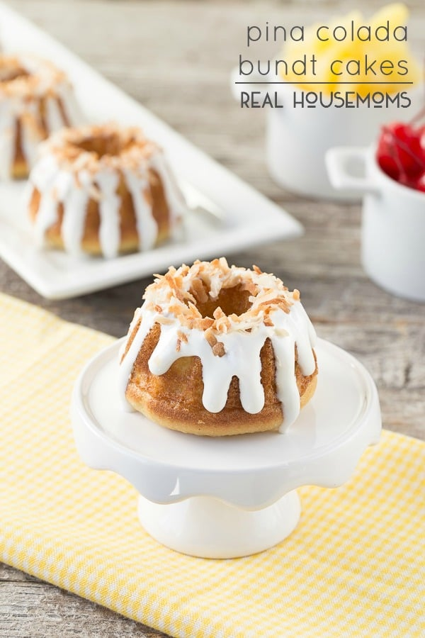 A taste of this Pina Colada Bundt Cake will make you feel like you are in the tropics without leaving your house!