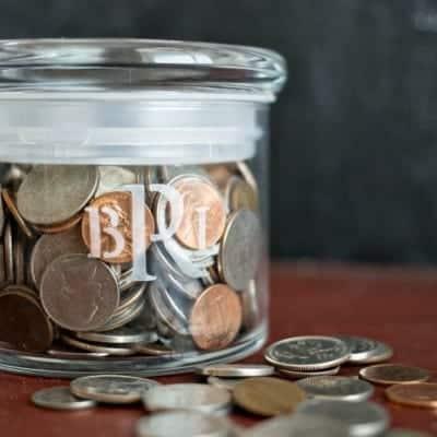 Monogrammed Coin Jar
