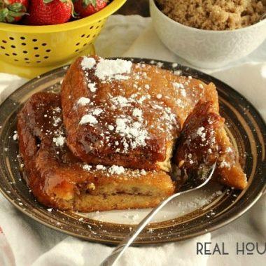 Overnight Caramel French Toast | Real Housemoms