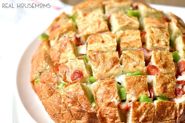 Pizza Pull Apart Bread is so easy to make and probably the most amazing appetizer I've made!