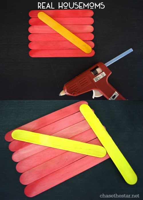 Popsicle Stick Flag | Real Housemoms
