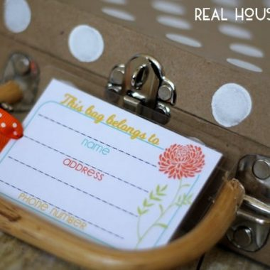 Printable Luggage Tags | Real Housemoms