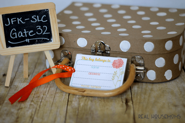 Printable Luggage Tags | Real Housemoms